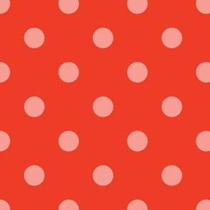 Normal scale // Pop art dots // orange complementary pattern