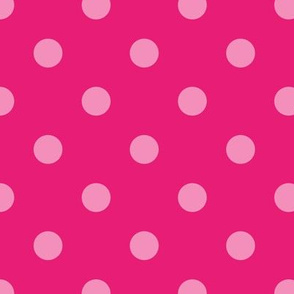 Normal scale // Pop art dots // pink complementary pattern