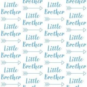 medium little-brother with-arrow-cursive - medium blue