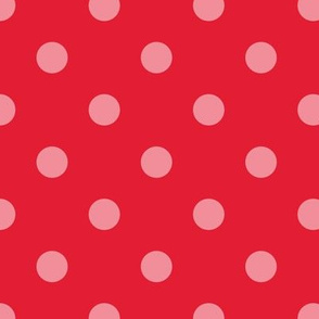 Normal scale // Pop art dots // red complementary pattern