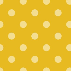 Normal scale // Pop art dots // yellow coordinating pattern