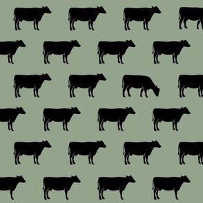 black cows on sage C19BS