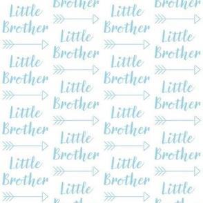 medium little-brother with-arrow-cursive - light blue