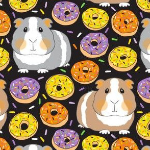 halloween guinea pigs and donuts with yellow