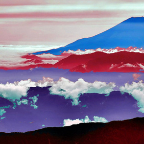 Mt Fuji Abrstact Landscape