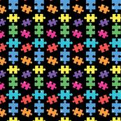 Autism puzzle rainbow