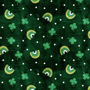 Rainbows and clovers - St Pattys Day - Lucky Rainbows - dark green - LAD19