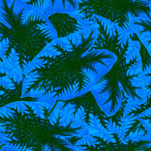 GREEN AND BLUE LEAF PATTERN