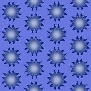 blue stars from afars