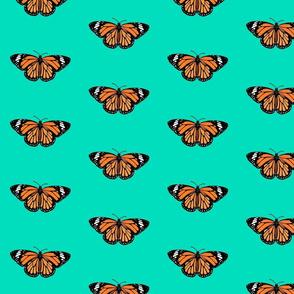Orange Butterfly Green