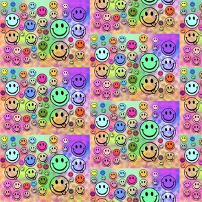 Childhood Smiles - rainbow colours