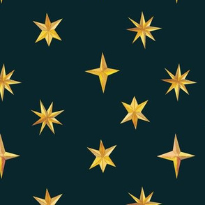Painted Stars {Night} - medium scale