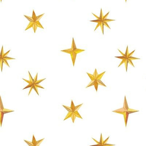 Painted Stars {White} - medium scale
