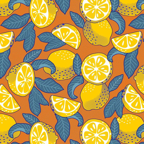 Lemons Pop Art - orange