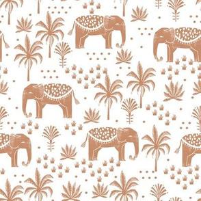 elephant boho fabric - elephant wallpaper, elephant nursery, elephant indie design - sand