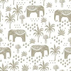 elephant boho fabric - elephant wallpaper, elephant nursery, elephant indie design - sage