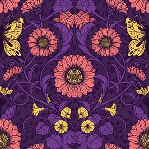 Art Nouveau daisies 2
