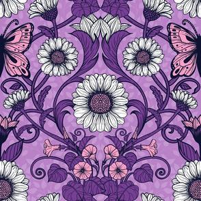 Art Nouveau daisies 3