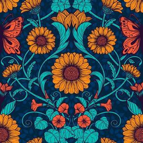 Art Nouveau daisies 5