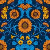 Art Nouveau daisies 4