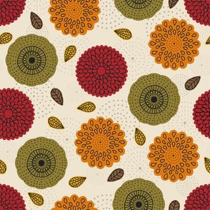 Fall Geometric Florals