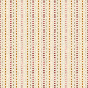 Dots and Dashes Stripes for Fall Geometric Florals