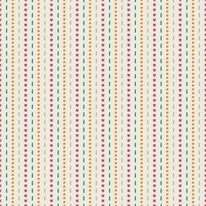 Dots and Dashes Stripes for SpringGeometric Florals