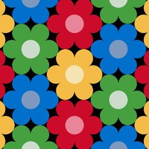 09528914 : S643 circle flowers : christmascolors