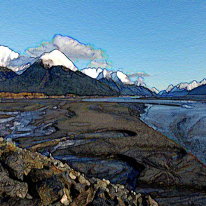 Alaska Turnagain Arm Abstract Landscape 2