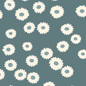 Daisy flowers slate blue