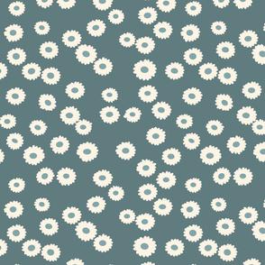 flowers Daisy slate blue  green gray