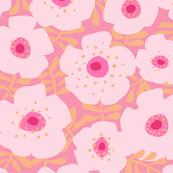 big pink flowers