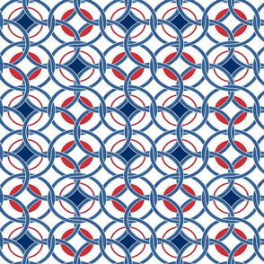 blue, red and white circles0425