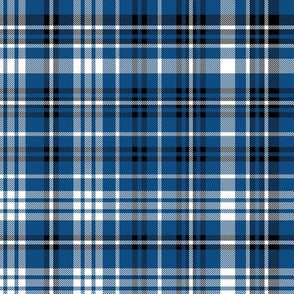 classic blue plaid - baby boy, classic blue, pantone blue, blue plaid, blue gingham, blue check -blue and black