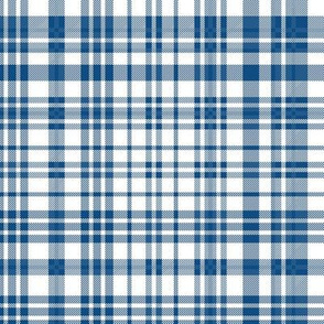 classic blue plaid - baby boy, classic blue, pantone blue, blue plaid, blue gingham, blue check - white and blue