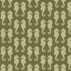 Back to Nature Green Seahorses on Dark Back to Nature Green