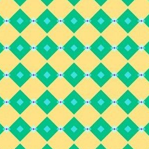 Green Yellow Blue Pink Mint Cubed Spring Design