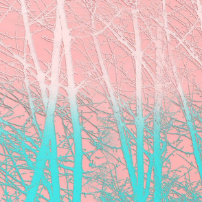Winter Branches in Ice Cream Colors