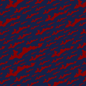FINY Large Tile - Red on Navy