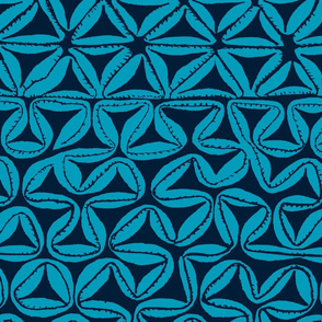 South Seas Tribal Tapa - Turquoise