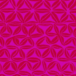 South Seas Tribal Tapa - Pink Rose