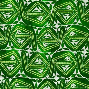 Aboriginal Bark Cloth - Green