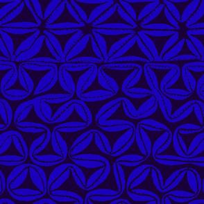 South Seas Tribal Tapa - Royal Blue