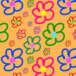 Flower Power - Naïf - Apricot, large