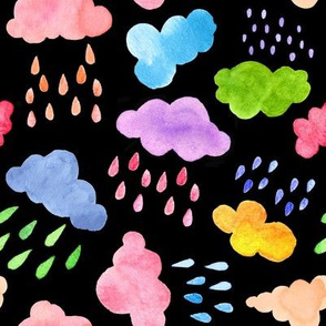 Colourful Rain Clouds at Night