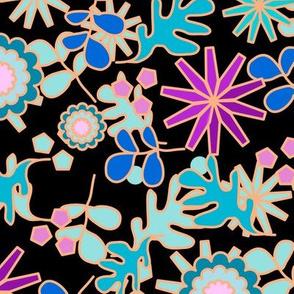 Floral Retro Black