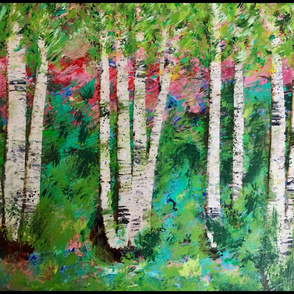 Walk in the Woods - Abstract Landscape
