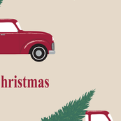 Christmas Red Pickup Truck Large