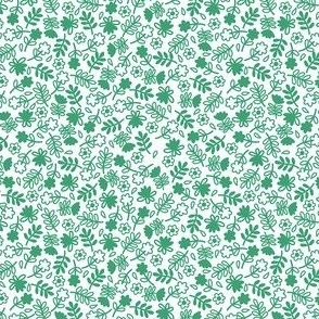 Flowers Green White Small