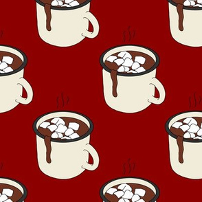 Hot Cocoa on Red